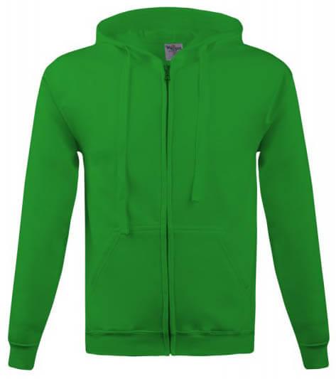 hanorac verde cu fermoar