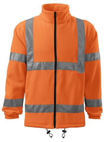 jacheta fleece reflectorizanta portocalie